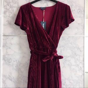 Modcloth Velvet Midi Dress